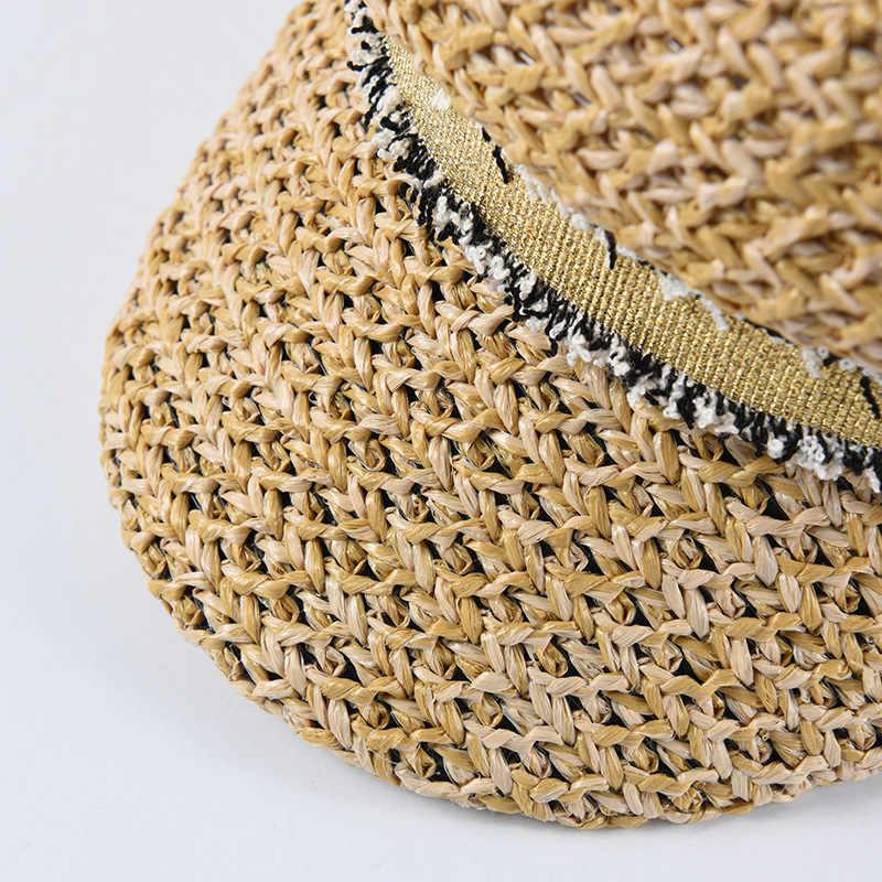 2019 المرأة الصيف قبعة قبعة امرأة قبعة عسكرية موضة المرأة القبعات العسكرية بلون قبعة للوقاية من الشمس الشاطئ قبعات مثمنة