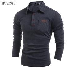 Herren Poloshirt Marken 2016 Männlichen Langarm Fashion Beiläufig Tasche Skinning Taste Polos Männer Trikots XXL2
