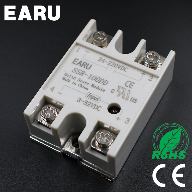 1 pcs Solid State Relay SSR-100DD 100A 3-32V DC Input TO 24-220V DC SSR 100DD SSR-100 DD Industry Control Factory Wholesale Hot normally open single phase solid state relay ssr mgr 1 d48120 120a control dc ac 24 480v