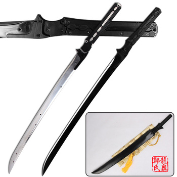 For Metal Gear Rising Revengeance Raiden High Frequency Full Tang Carbon Steel Sword For Collectible Cosplay Props