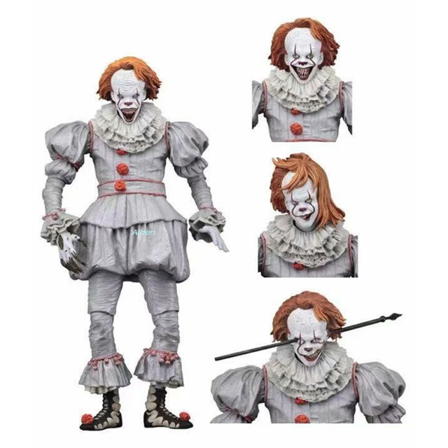 "7 ""NECA Stephen King é Bem Final Casa Pennywise PVC Action Figure Collectible Modelo Toy BOX 18 CM B504"