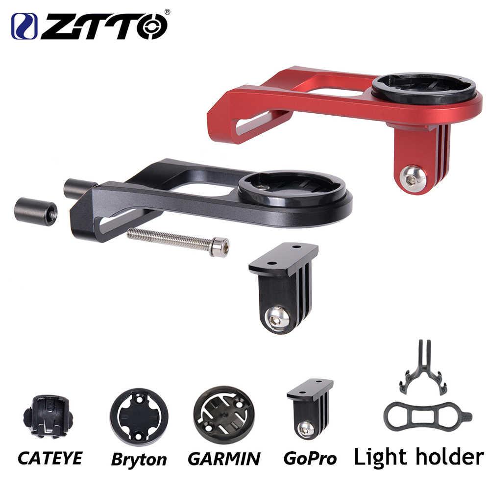 Ztto Bagian Sepeda MTB ROAD Sepeda Sepeda Komputer Mount Pemegang Batang Setang Mount untuk Garmin untuk CATEYE untuk GoPro Digunakan