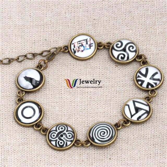 Hand Make Teen Wolf Symbols Beads Bracelets In Strand Bracelets From