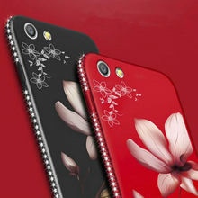 Flower Silicone Phone Case For Huawei P10 Lite P20 Pro Honor 8 9 10 Lite Y5 Y6 Y7 Y9 2018 Cover Glitter Diamond Floral Back Case(China)