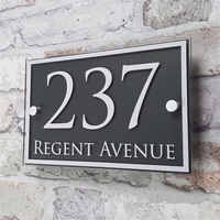 Custom Acrylic House number Door Number House Sign Apartment Street Address Effect Glass Vinyl sticker