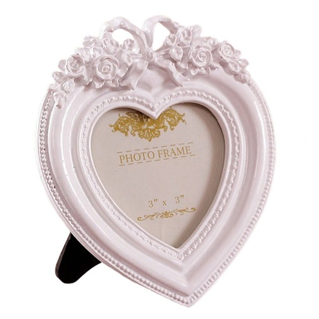 Giftgarden Pink Heart Decoration 3x3 Picture Frame Wedding Photo