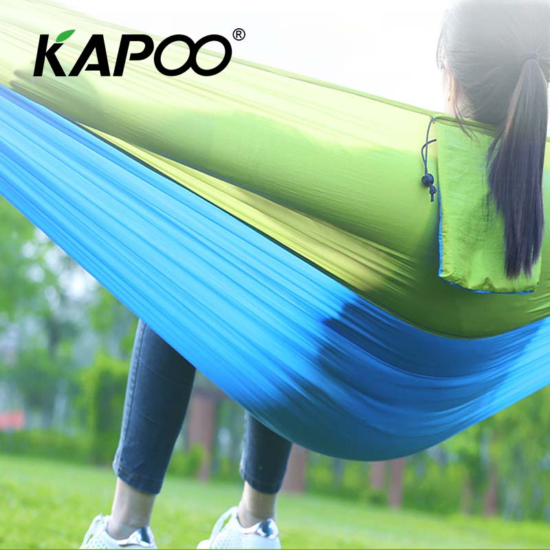 Portable ingle Parachute Hammock Outdoor Furniture Camping Hammock Picnic Mat Outdoor Hammock Garden Swing Chair Temporary Bed