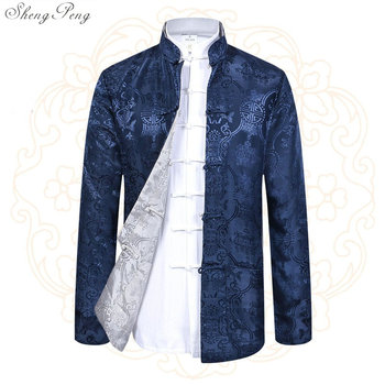 Mens chinese jackets shanghai tang traditional chinese clothing for men kung fu uniform traditional chinese clothing Q568