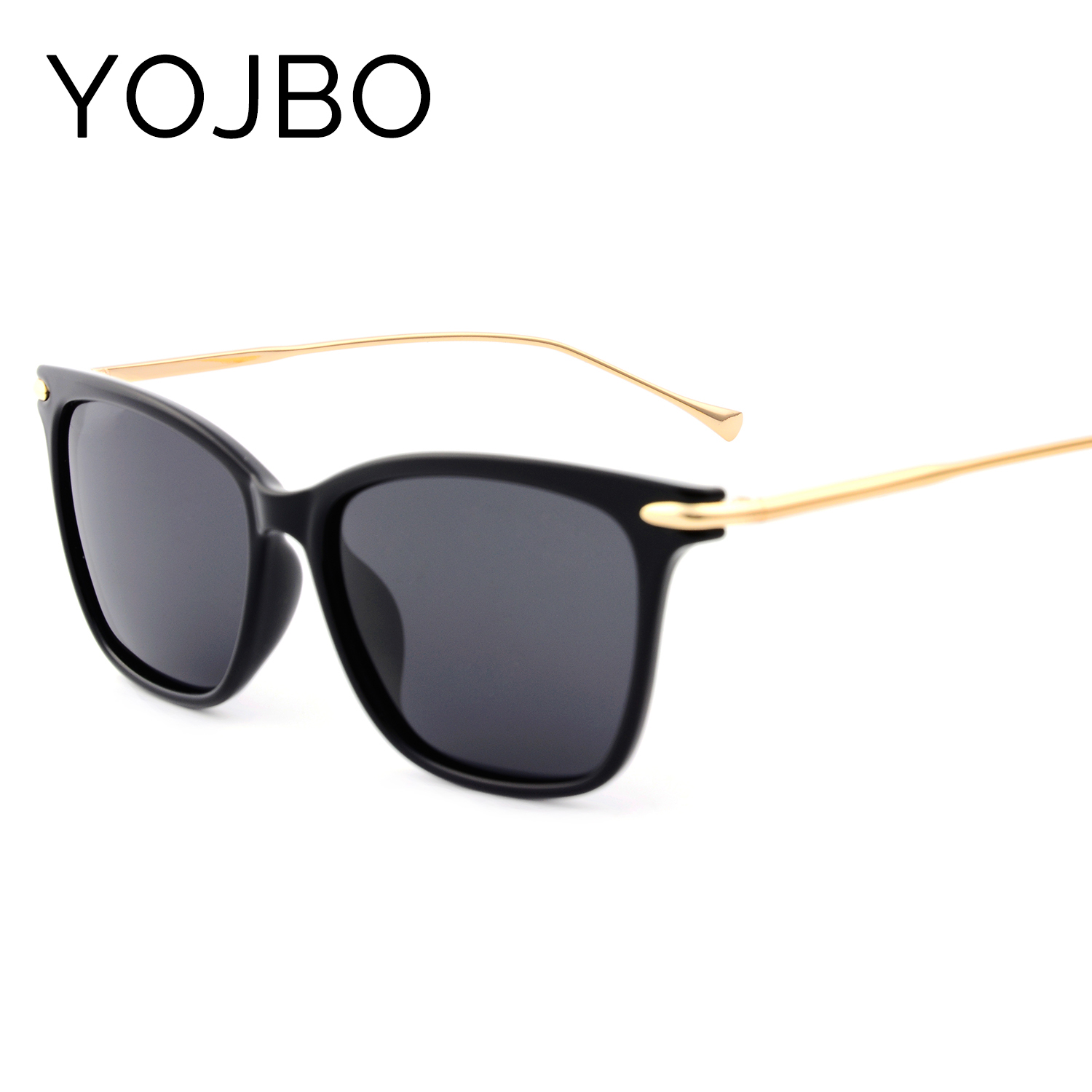 YOJBO New Styles Polarized Women Sunglasses 2018 Fashion Retro Mirror Men Vintage Brand Designer Clear Sun Glasses