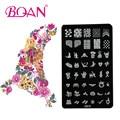 BQAN 10 unids/lote Imágenes de Animales Nail Plate Estampación Galvanizado CK19