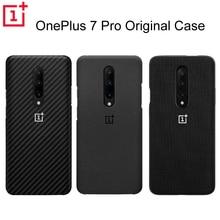 מקורי רשמי OnePlus 7 פרו מגן מקרה Karbon פחמן אבן חול ניילון פגוש מקרה כריכה אחורית מעטפת עבור OnePlus 7Pro