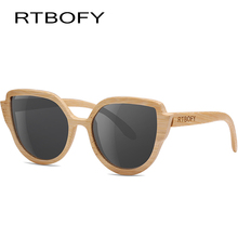 RTBOFY Wood Sunglasses Women Polarized Lens Glasses Bamboo Frame Eyeglasses 2017 New Designer  UV400 Protection Shades Eyewear