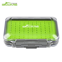 Booms Fishing Fly Fishing Field Waterproof Double Facet and Silicone Insert Deal with Containers Clear Plastic Fly Field Lure Hook Case