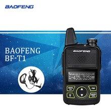 1pcWalkie Talkie BF-T1 MINI Radio UHF 400-470MHz FM Transceiver With PTT Earpiece Hotel Civilian Radio Comunicacion Transceiver