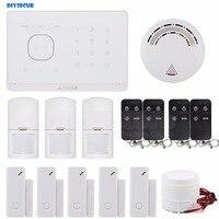 DIYSECUR Rook Sensor Toepassing/SMS Afstandsbediening Draadloze GSM Home Alarmsysteem