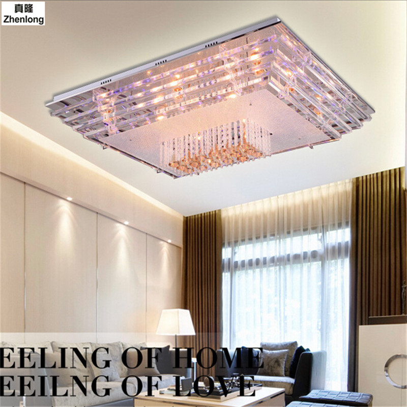 Modern Crystal LED Ceiling Light Fixture for Indoor Lamp Lamparas Techo Ceiling Lamp for Bedroom Dining Room with Remote Control