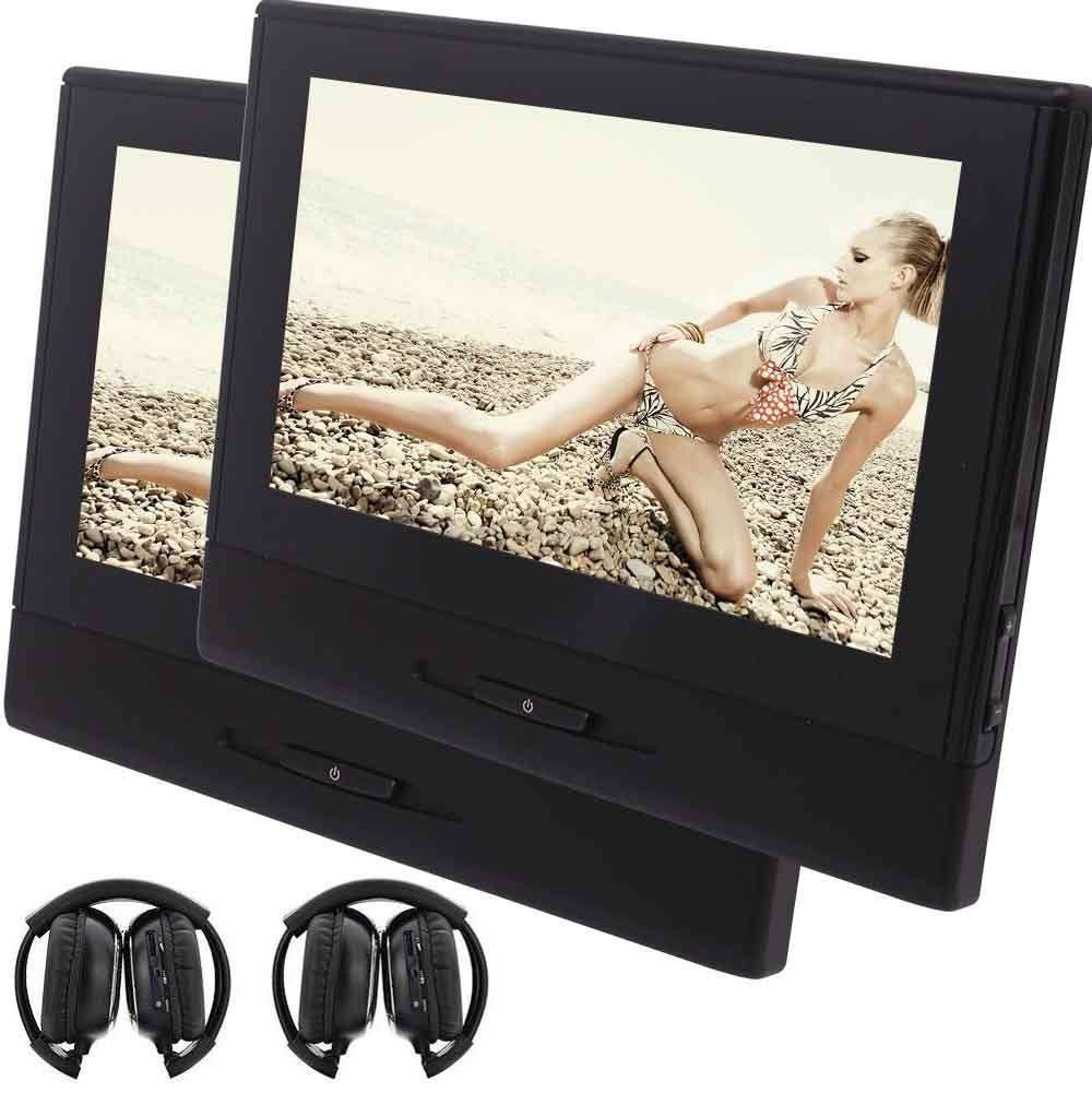 8 HD Digital Screen Headrest Monitor car styling DVD Player Rear Seat Headrest for all cars USB Port TFT+a pair of headphones