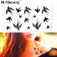 M-Theory Sparrows Choker Makeup Temporary 3d Tattoos Sticker Flash Tatoos Body Arts Tatto Swimsuit Makeup Tools