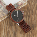 Мужские наручные часы BOBO BIRD с красным деревянным ремешком  мужские часы ручной работы из Японии  кварцевые деревянные наручные часы  C-M16