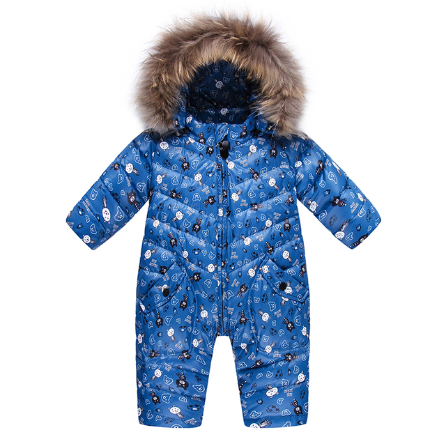28bc02ecdb0d Baby Jumpsuit Winter Baby Down Romper Girls Snowsuit Outdoor ...