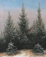 Fir Trees in the Snow Caspar David Friedrich Paintings for sale wall art High quality Hand painted