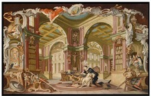 3D wall murals wallpaper custom picture mural Royal library > classical landscape painting background paper room