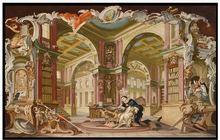 3d настенные фрески фотообои на заказ Королевская библиотека>