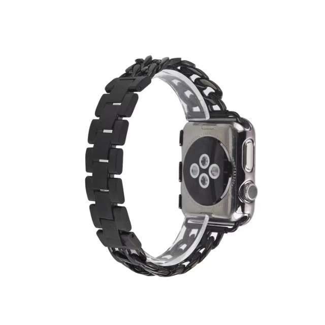 Watch Band For Apple Watch Series 4 Wrist Bracelet Luxury Metal Chain Design Strap Replacement Band For Apple Watch Series 1 2 3 for apple watch series 4 wrist bracelet luxury metal mechanical chain watch band strap for apple watch series 1 2 3 38mm 42mm