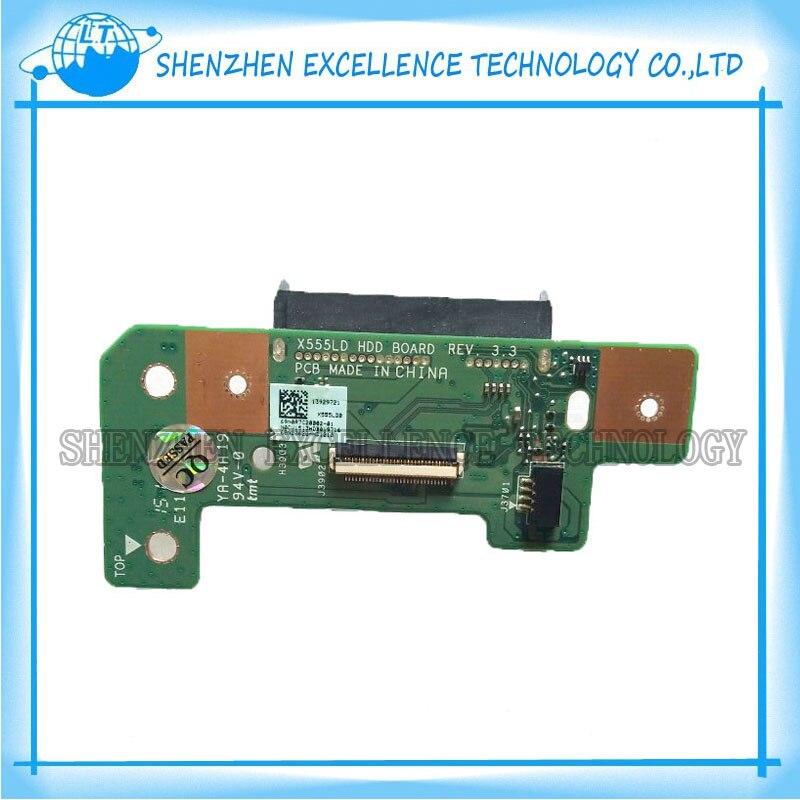In Stock! Original HDD Hard Drive Board For ASUS K555 R556L X555LD X555LN F555 F555L Laptop Jack Board 69N0R7C20B02-01 REV3.3