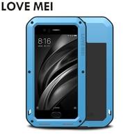 LOVE MEI Phone Cases For Xiaomi Mi6 M6 Mi 6 Prime Cover Heavy Duty Case Silicone