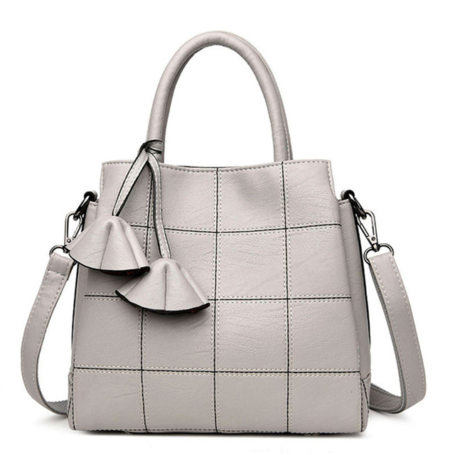 White Leather Luxury Handbags Women Bags Designer High Quality Casual Tote For 2018