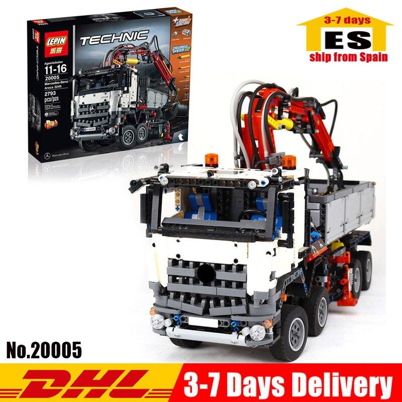 LEPIN Technic 20005 Mercedes Benz Arocs 3245 modèle bloc de construction briques compatible legolyes Techinic 42023 jouets cadeaux d'anniversaire
