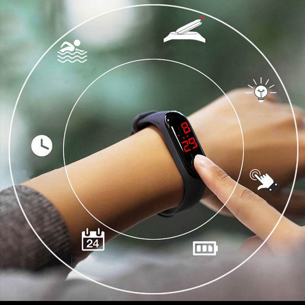 New Arrival <font><b>Unisex</b></font> Women Watch Touch Screen Feel Screen Led Sports Fashion Electronic Watch High Quality Waterproof Kol Saati #W image