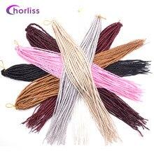 """22 """"(56 см) мягкие дреды одного заканчивается sythetic наращивание волос крючком тесьмы одного конца Однотонная одежда ручной работы хиппи Dreads 3 шт."""