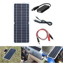 XINPUGUANG 12 В в 10 Вт солнечная панель с USB крокодил клип автомобильное зарядное устройство placa Солнечный cargador painel panneau solaire В 10 Вт 5 В выход