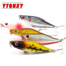 Купить с кэшбэком YTQHXY 1Pcs Popper FIishing Lure 3D Eyes Bait Crankbait 65mm 6.6g Wobblers Isca Poper Pesca Japan Fishing Tackle Pesca WQ224
