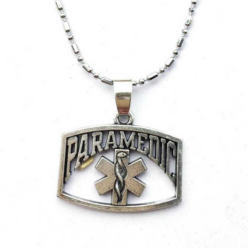 Emt Paramedic Symbol Necklace Paramedic Wife Jewelry