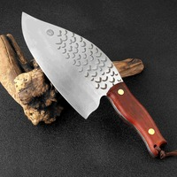 XITUO 8 Inch Blade Handmade Forged Clad Steel Kitchen Knife 845 g Big & Heavy Chef's Meat Cleaver Butcher Fish Knife Cutter Wood