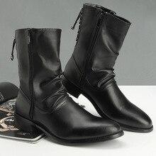 2019 new mens winter shoes Korean fashion boots British wind high pointed cylinder Martins Yasilaiya