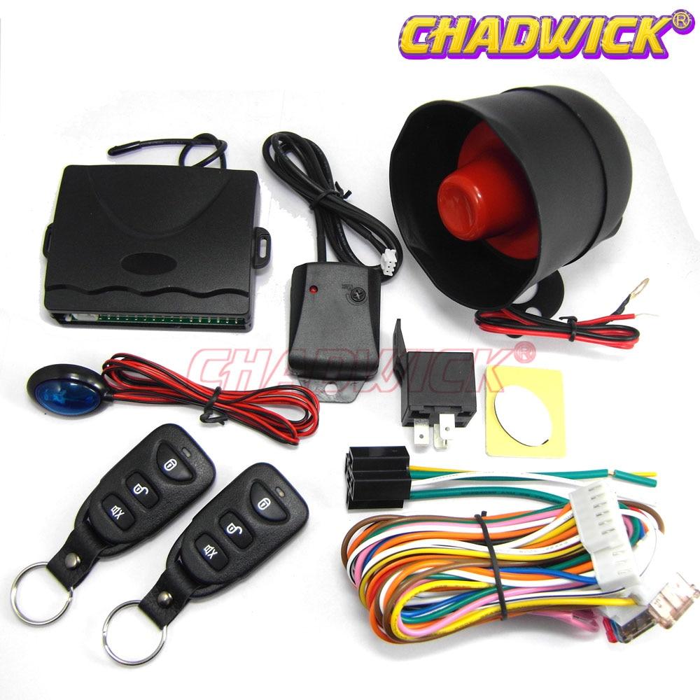 Universel voiture Auto télécommande centrale Kit serrure de porte verrouillage véhicule sans clé entrée télécommandes CHADWICK 8113 système d'alarme de voiture