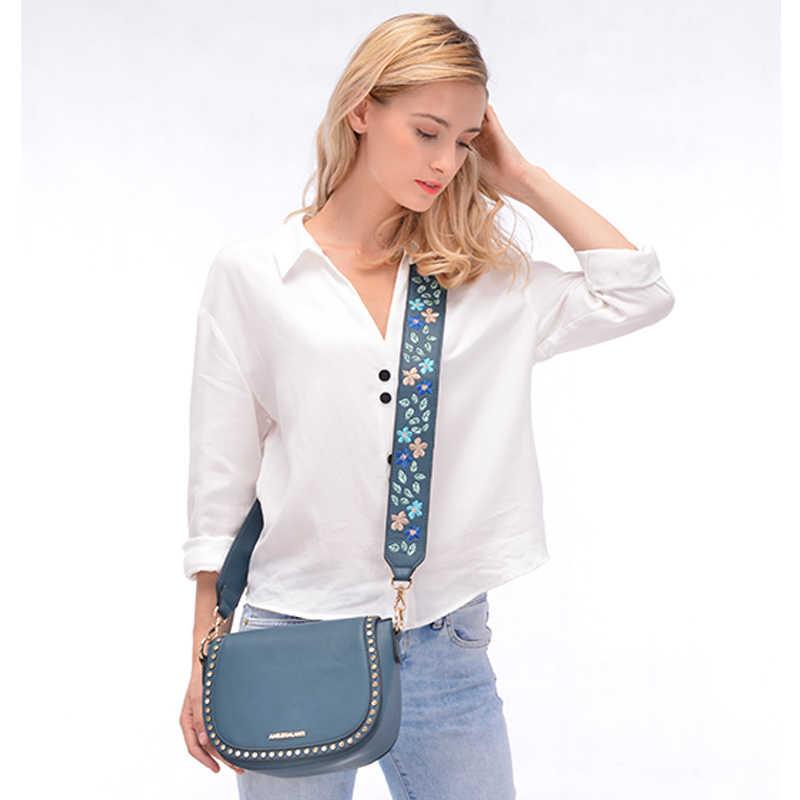 Amelie Galanti Kecil Wanita Tas Tangan Mewah Kulit Tas Selempang untuk Wanita Shell Tas Bordir dengan Panjang Tali Tas Bahu