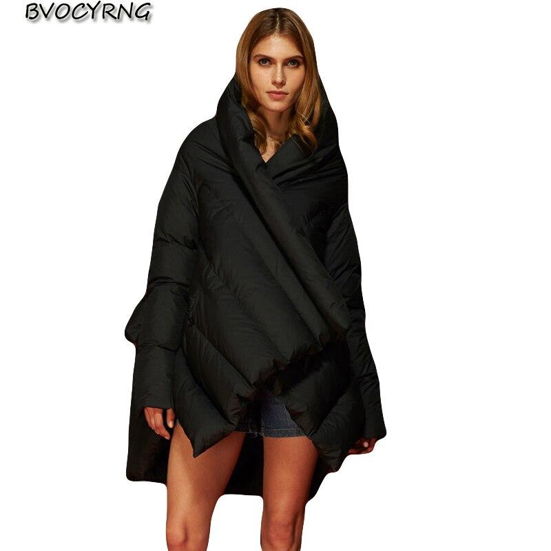 Women Winter Warm   Coat   Female 2018 High Quality   Down   Jacket Hooded White Duck   Down     Coats   Fashion elegant Women's Loose Outerwear