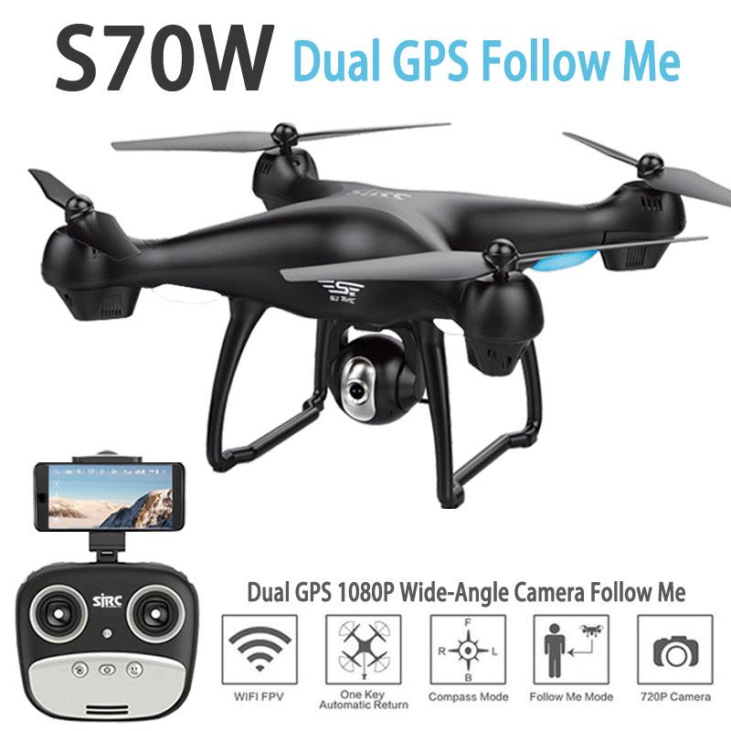 S70W gps FPV Радиоуправляемый Дрон с 1080P HD Регулируемый широкий угол Камера WiFi Live Video Follow Me gps возвращении домой RC quadcopter Дрон