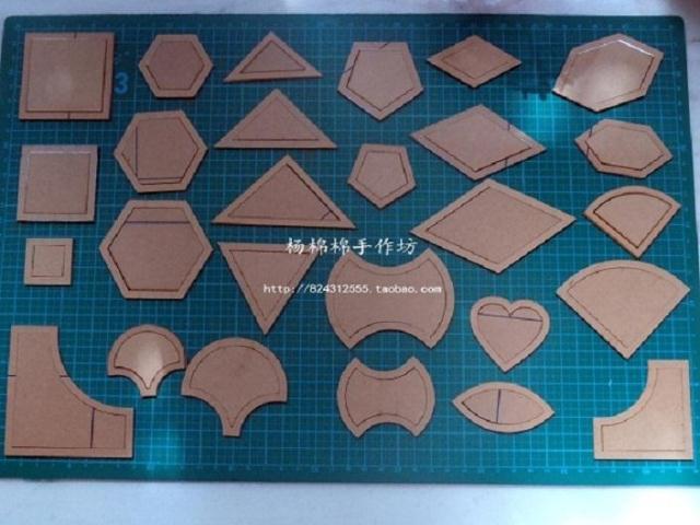 Diy patchwork mold cola quilt patchwork tools 27 set 54pcs - Como hacer colchas de patchwork ...