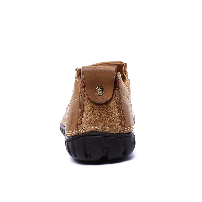Respirável Sapatos Superior Homens De Brown Genuíno Confortáveis Ar Apartamentos Couro Condução Mocassins Casuais Qualidade khaki Suaves Livre Ao HA7q4tWww