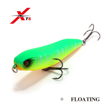 Купить с кэшбэком XTS Fishing Lure 84mm 11g Wobblers Artificial Hard Pencil Bait Topwater Floating Swimbait With Strong Hooks Fishing Lure 3521