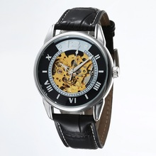 GOER бренд Мужской спортивные часы Harajuku мужская механическая автоматическая наручные часы цифровой водонепроницаемый кожа Световой Скелет