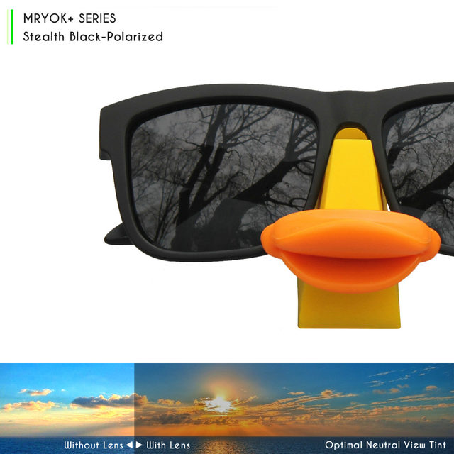 8b6feff169 Mryok+ POLARIZED Resist SeaWater Replacement Lenses for Oakley Jupiter  Squared Sunglasses Stealth Black