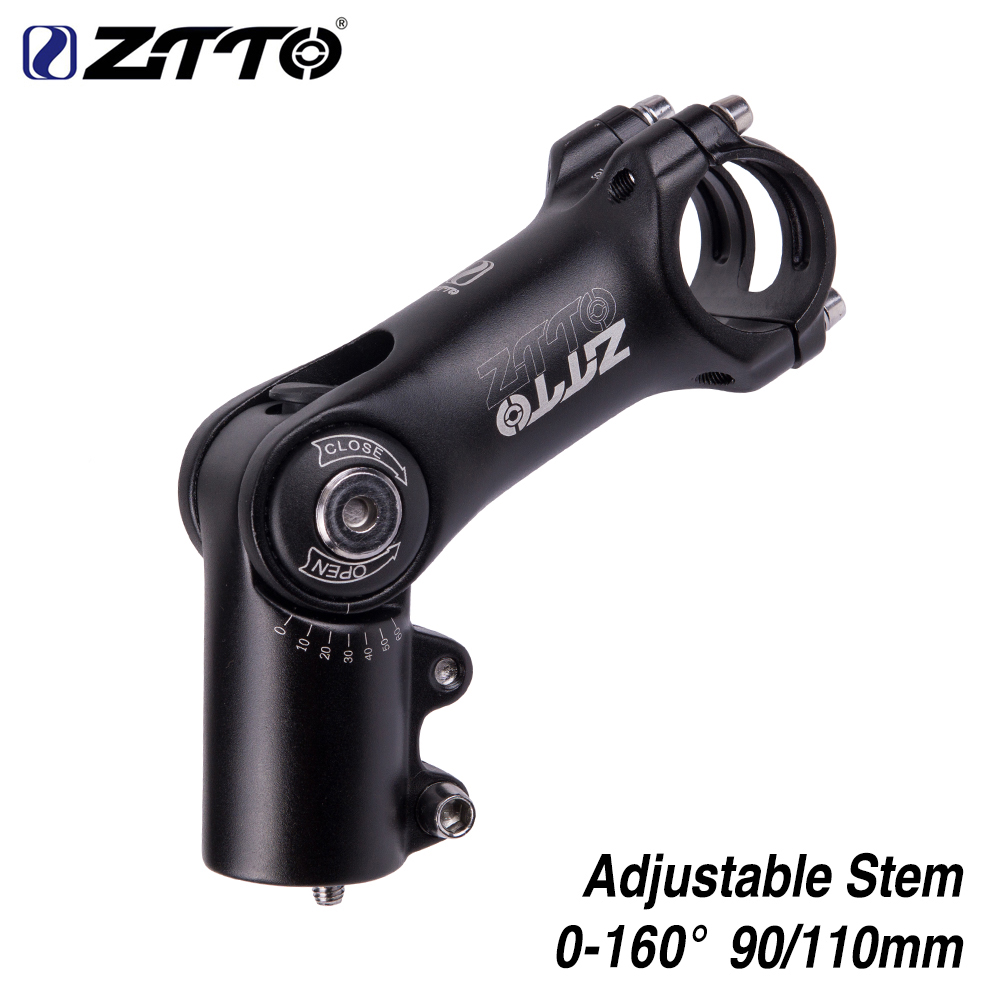 ZTTO Adjustable 160 degrees Riser 90mm 110mm 31 8 fiting Stem for MTB Road CityBike Bicycle