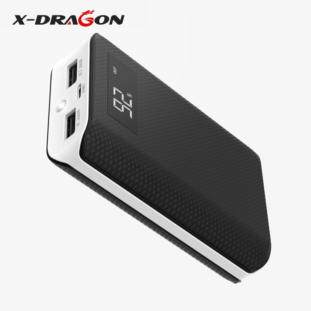 X-DRAGON Powerbank LCD Digital Display Power Bank Backup Phone Battery Portable 6000mAh for iPhone iPad Sony LG Samsung HTC etc.